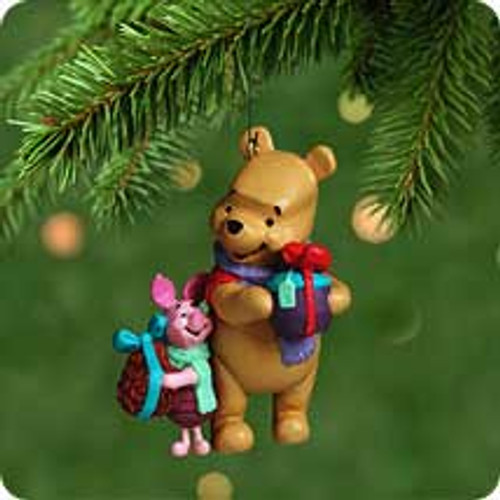 2001 Disney - Winnie The Pooh - Just Wanted Hallmark ornament