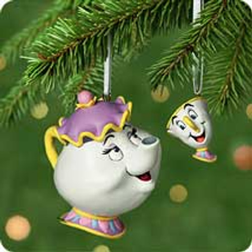 2001 Disney - Mrs. Potts and Chip Hallmark ornament