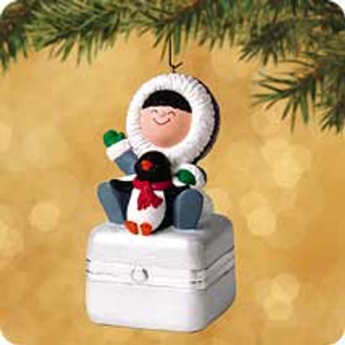 2002 Frosty Friends Porcelain Box Hallmark ornament