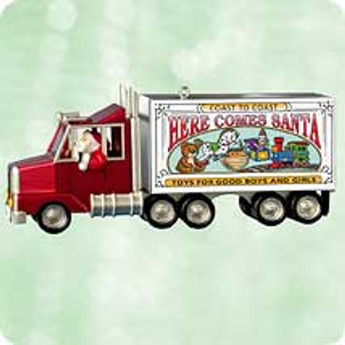 2003 Here Comes Santa #25F - Big Rig Hallmark ornament