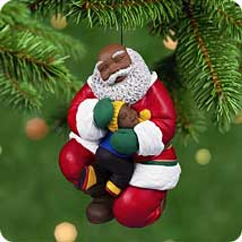 2001 Joyful Santa #3F Hallmark ornament