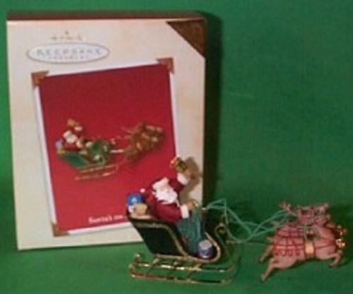 2003 Santa's On His Way - Colorway Hallmark ornament