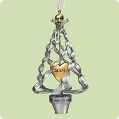 2004 1st Christmas Together - Tree heart Hallmark ornament