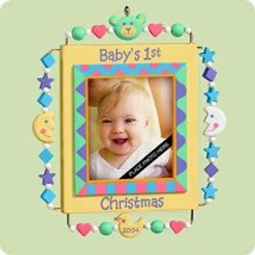 2004 Baby's 1st Christmas - Photo Hallmark ornament