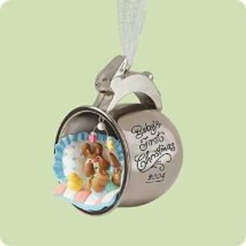2004 Baby's 1st Christmas - Silver Cup Hallmark ornament