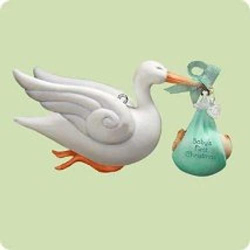 2004 Baby's 1st Christmas - Stork Hallmark ornament