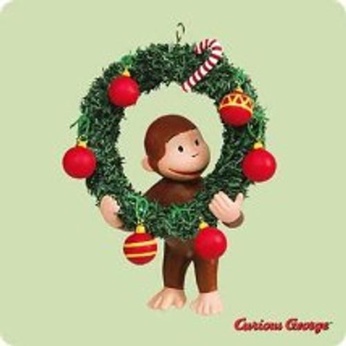 2004 Curious George Hallmark ornament