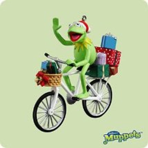 2004 Kermit The Frog - Bicycle Hallmark ornament