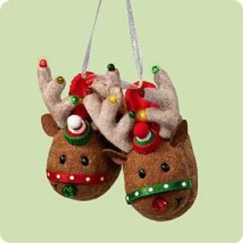 2004 My Christmas Slippers Hallmark ornament