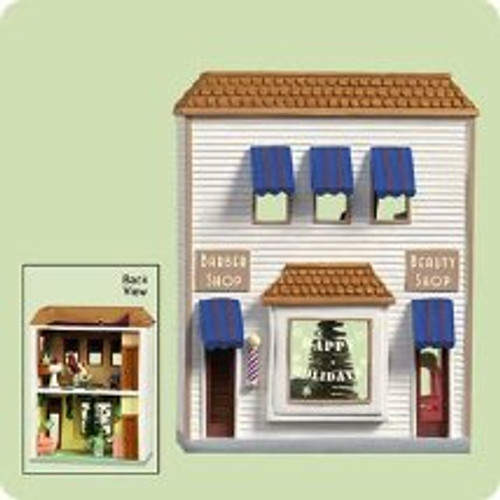 2004 Nostalgic Houses #21 - Barber Shop Hallmark ornament
