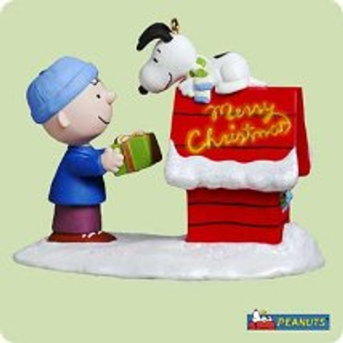2004 Peanuts - Merry Christmas Snoopy Hallmark ornament