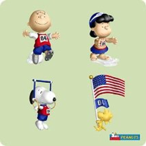 2004 Peanuts - Olympics Hallmark ornament