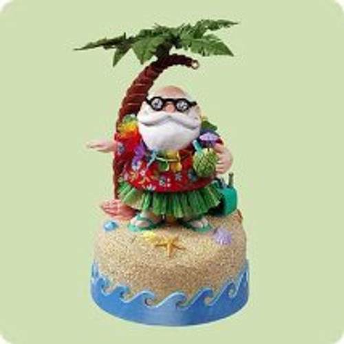 2004 Santa's Hula-day Hallmark ornament