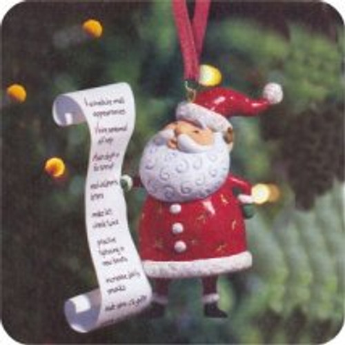 2004 Santa's List - So Much To Do Hallmark ornament