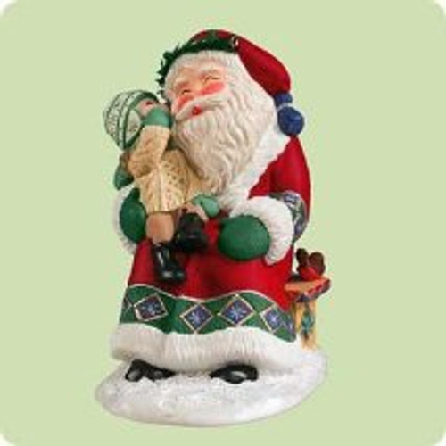 2004 Sittin' On Santa's Lap Hallmark ornament