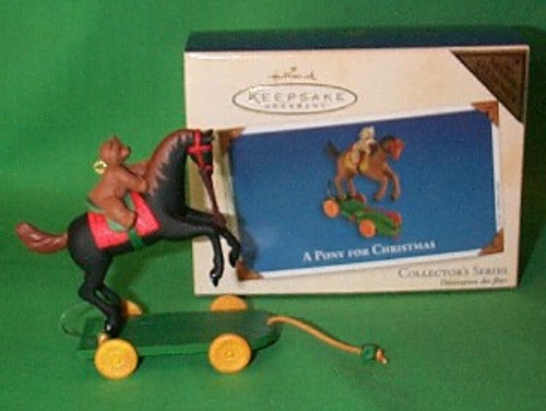 2002 A Pony For Christmas #5 - Colorway Hallmark ornament