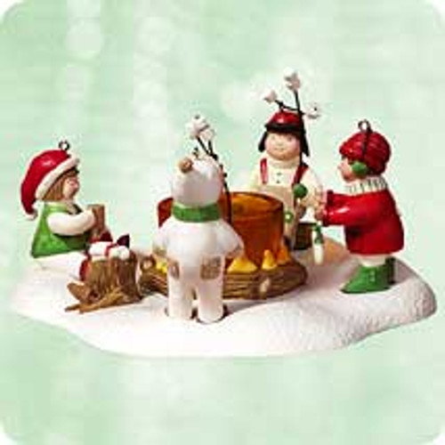 2003 Waiting For Santa Hallmark ornament