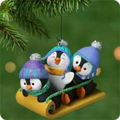 2001 Penguins At Play Hallmark ornament