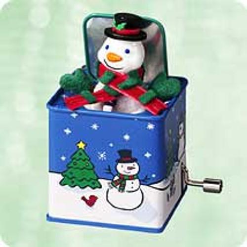 2003 Pop Goes The Snowman #1 Hallmark ornament