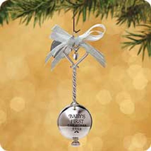 2002 Baby's 1st Christmas - Silver Hallmark ornament