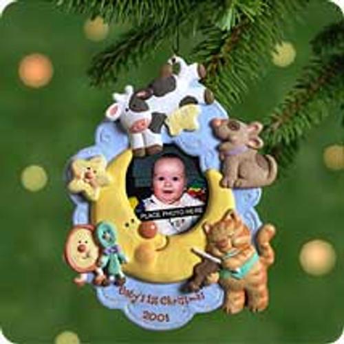 2001 Baby's 1st Christmas - Photo Hallmark ornament