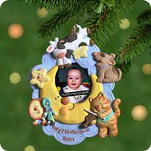 2001 Baby's 1st Christmas - Photo Hallmark ornament