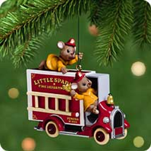 2001 Four Alarm Friends Hallmark ornament