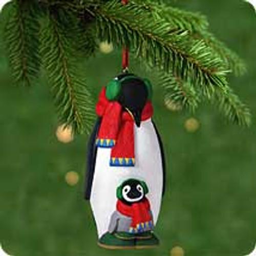 2001 Safe And Snug #1 - Penguins Hallmark ornament