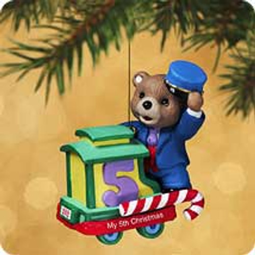 2002 Child's 5th Christmas - Bear Hallmark ornament
