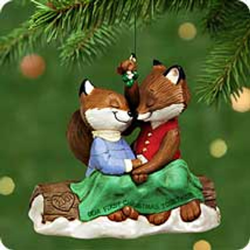 2001 1st Christmas Together - Foxes Hallmark ornament