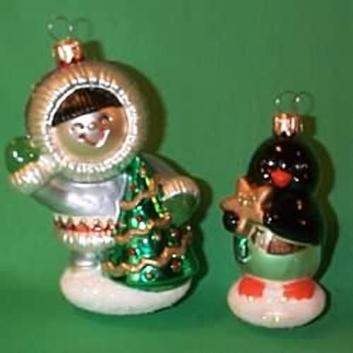1998 Frosty Friends - Blown Glass