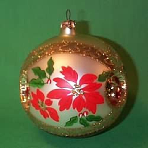 1998 Glass - Poinsettia - Red