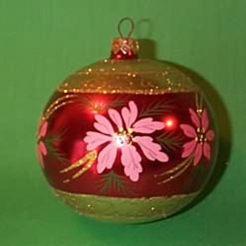 1998 Glass - Poinsettia - Pink