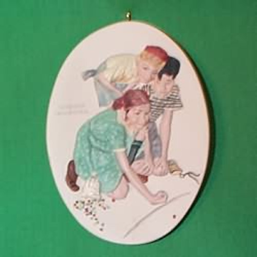 1997 Norman Rockwell - Marbles Champion
