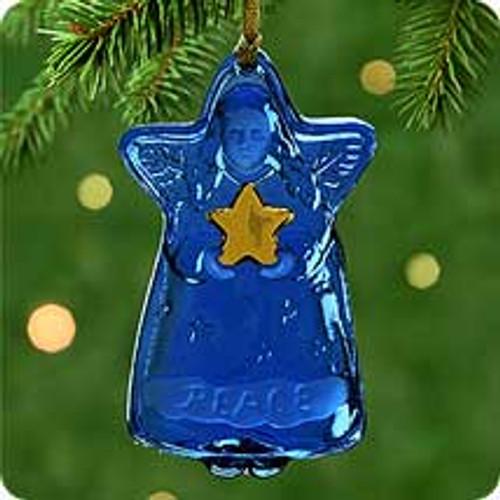 2000 Blue Glass Angel Hallmark Ornament