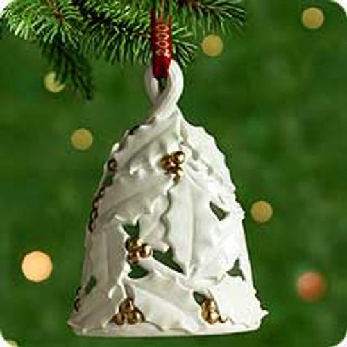 2000 Holly Berry Bell Hallmark Ornament