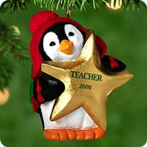 2000 Gold-Star Teacher Hallmark Ornament