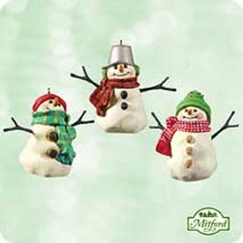 2003 Mitford Snowmen - Minis