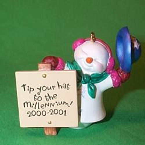 2000 Millenium Snowma am Hallmark Ornament