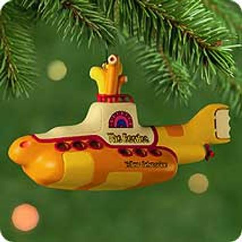 2000 Yellow Submarine Hallmark Ornament