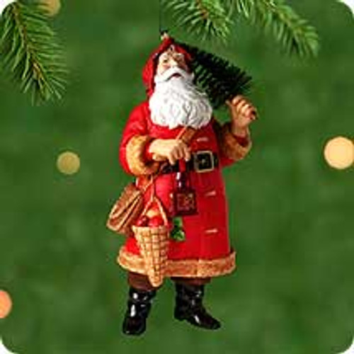 2000 Winterberry Santa Hallmark Ornament