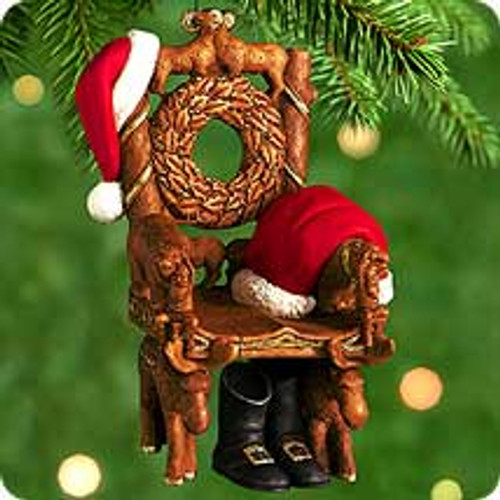 2000 Santa's Chair Hallmark Ornament