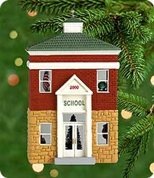 2000 Nostalgic Houses #17 - Schoolhouse Hallmark Ornament