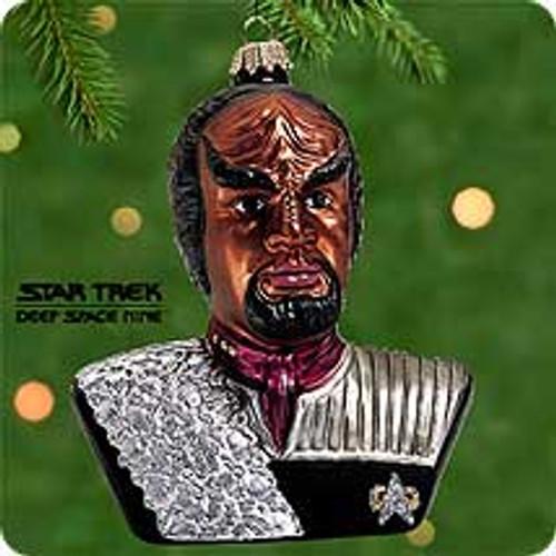 2000 Star Trek - Worf Blown Glass Hallmark Ornament
