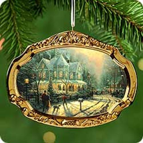 2000 Thomas Kinkade - Holiday Gathering Hallmark Ornament