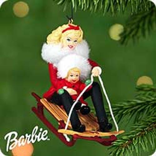 2000 Barbie And Kelly - Winter Fun Hallmark Ornament