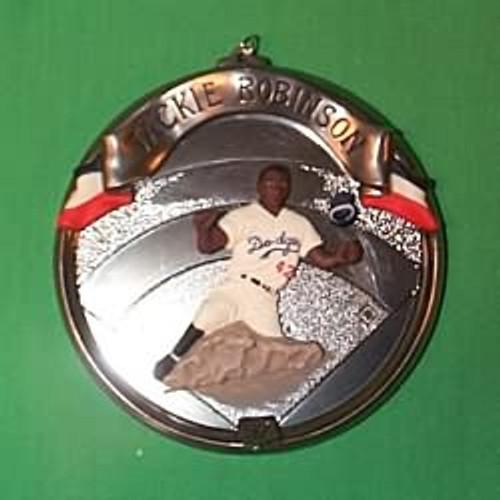 1997 Baseball Heroes #4F - Jackie Robinson