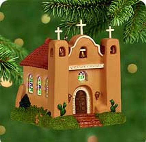 2000 Candlelight Services #3 - Adobe Church Hallmark Ornament