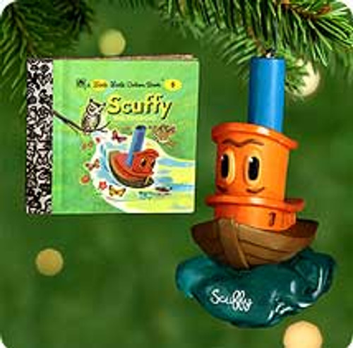 2000 Scuffy The Tugboat Hallmark Ornament