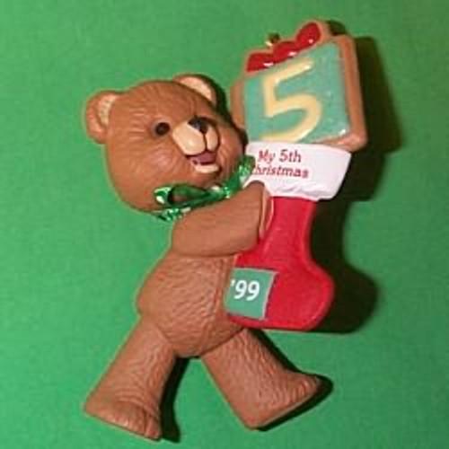 1999 Child's 5th Christmas- Bear